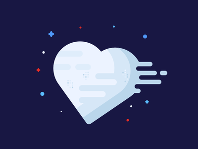Love is in the Sky! sky vector style star death mbe illustration heart
