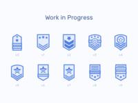 Side Project (Work in Progress) work in progress lines line wip military star badge