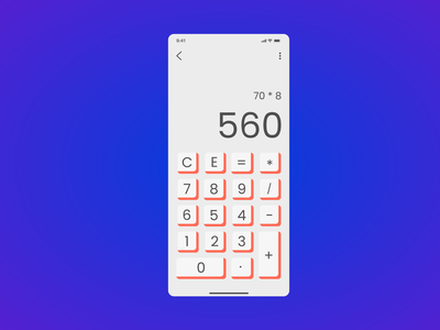 calculator_ daily ui_004 minimal ux interface app ui web design dailyui