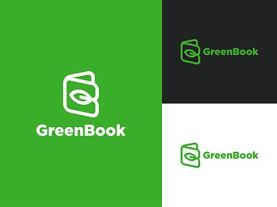Green Book App Logo Concept vector brandidentity logo logodesign plantguideapp