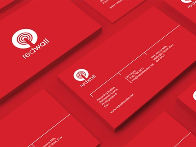 Redwall Business Card branding logo design recording studios