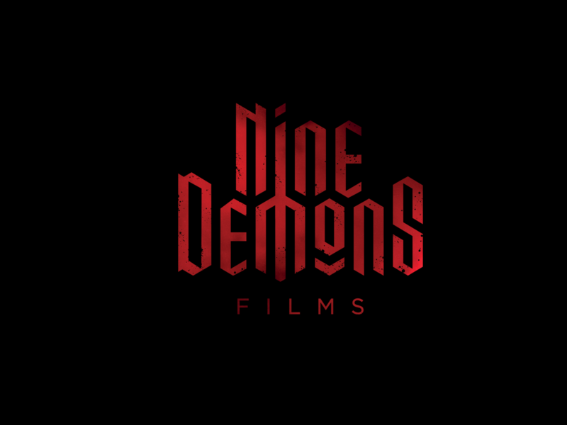 Nine Demons Instagram logo design brand identity horror films