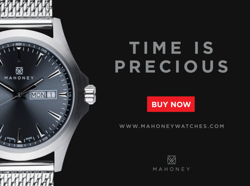 Mahoney Watches brand design socialmediamarketing promotional design