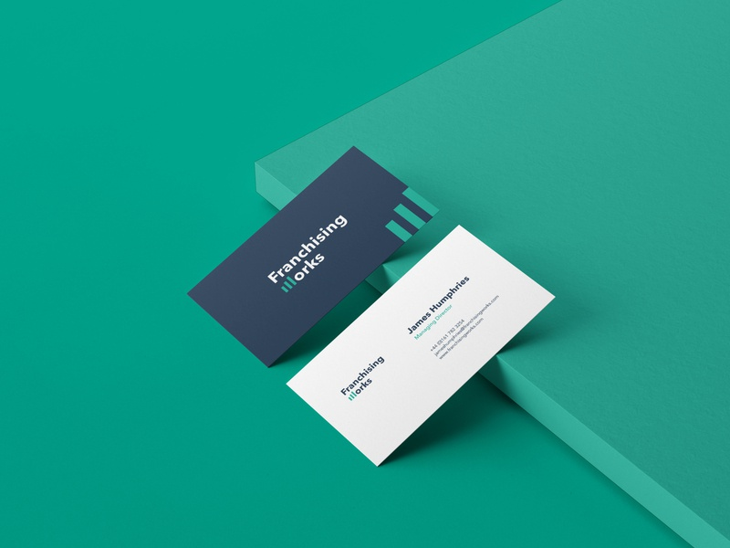 Franchising Works Business Cards branding concept brand design logo design