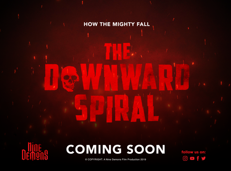 The Downward Spiral Film Teaser Poster title design concept art teaser poster film