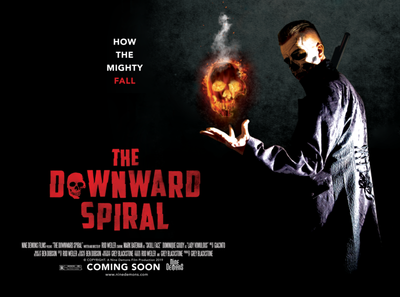 The Downward Spiral Upcoming Film digital design print production design photoshop ninedemonsfilms independent film poster design poster art