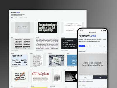 FontNote - ressource for fonts ressource fontnote blue design webdesign ux ui font collection collection fonts