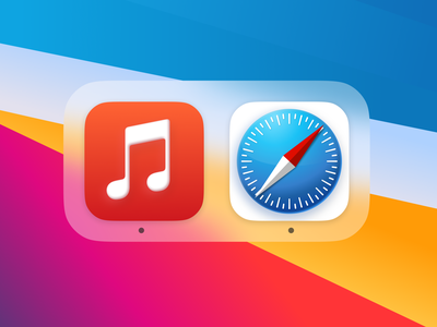 Big Sur Icons Music and Safari appledesign apple 3d design macos icon colorful vibrant icondesign ui uidesign app icons safari app icon bigsur macos