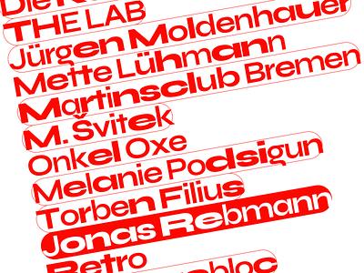 Artists List Discart kirby typography frontend website concept exhibition artists experimental brutalist brutalist design flat webdesigning layout list red variable font ui webdesign
