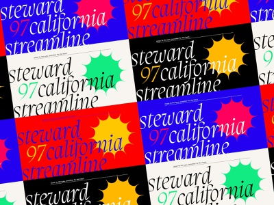 97 California Colors typo grid print graphic design graphic test strong star migra italic brand california concept layout design branding artboard experimental typography colors brutalism