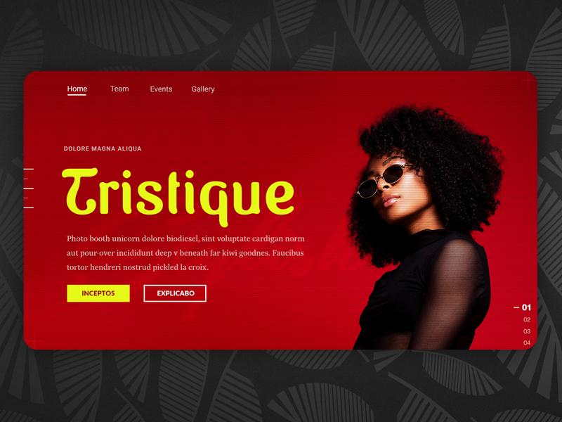 Tristique ui ux identity gallery events luxury website webdesign web design