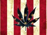 Mockup American Cannabis Beach Towel
