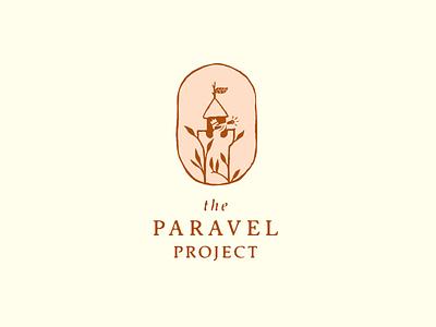 The Paravel Project branding design drawn badge illustrator hand illustration logo