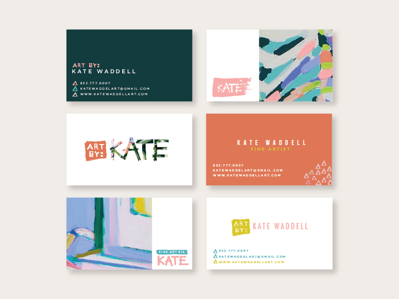 Artist Business Cards cards business logo paint branding art fine artist