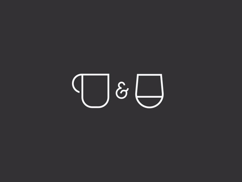 coffee + wine icons ampersand wine coffee