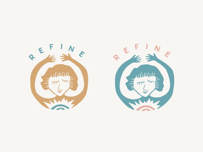 Refine Yoga refine hands drawn hand yoga girl