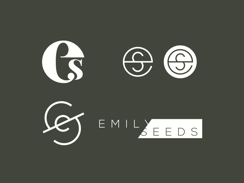 Emily Seeds Logo option circle logotype logo serif monogram letter s e