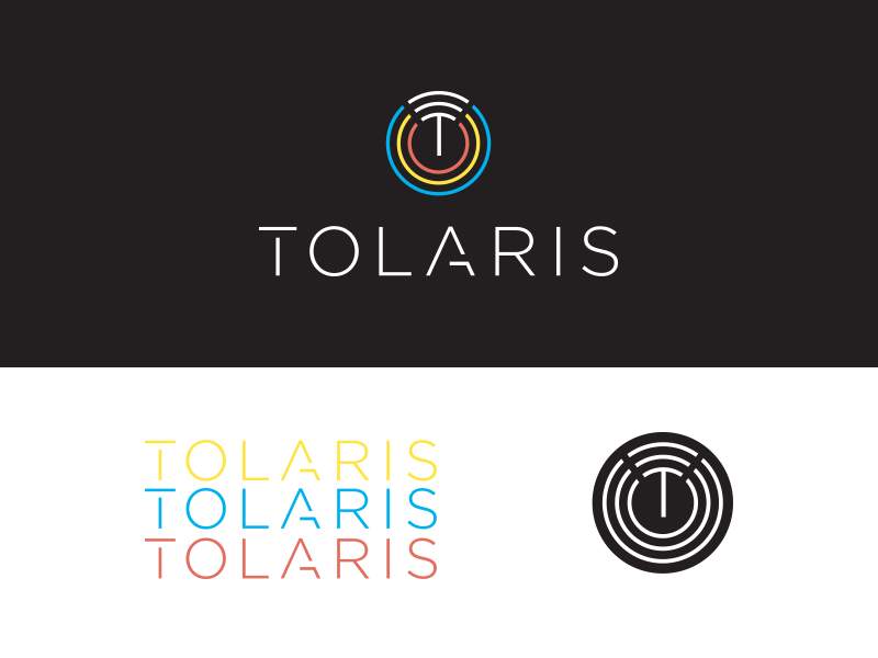 Tolaris Wireless lettering a t power wifi colorful edgy tech wireless