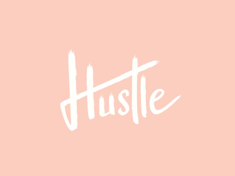 Hustle script letter h pink hustle texture brush lettering draw hand