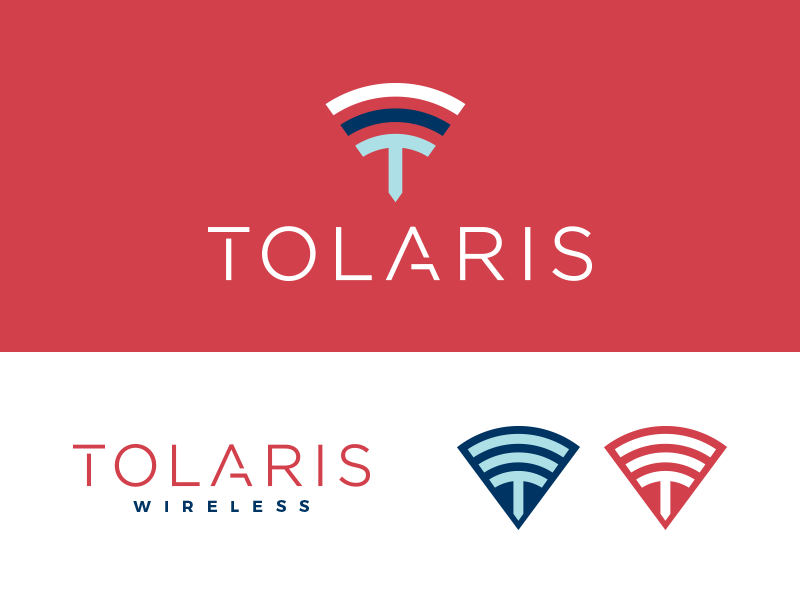 Tolaris Wireless Final option lettering a t power wifi colorful edgy tech wireless