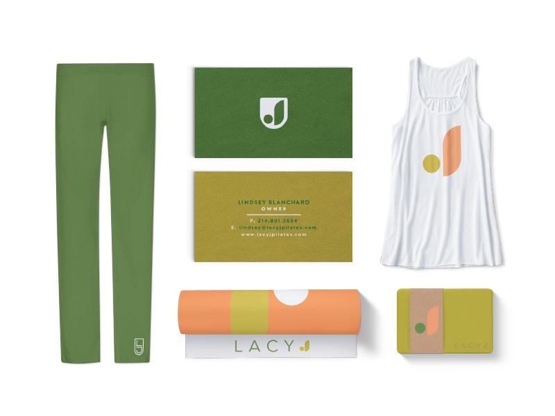 Lacy J Pilates and Fitness branding gym fitness block mat mockup j logo pilates yoga