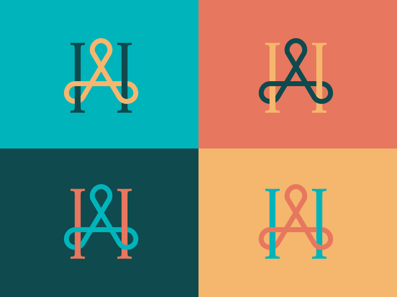 Agape House serif trinity church logo monogram h a