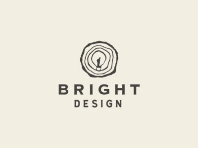 Unused Option logo mark light bulb tree rings