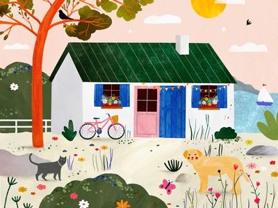 Sea house 🌞 house animals kids illustration illustration art illustrator illustration