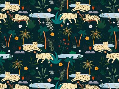 Jungle pattern 🌿 animal jungle motifs pattern design pattern kids illustration illustration art illustrator illustration