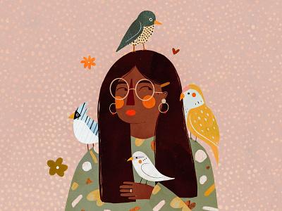LADY BIRD ladybird motif bird illustration bird animals female character kids illustration illustration art illustrator illustration