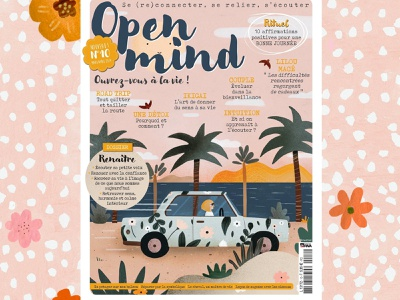 Open Mind editorial illustration illustrator illustratrice magazine illustration illustration cover magazine cover magazine