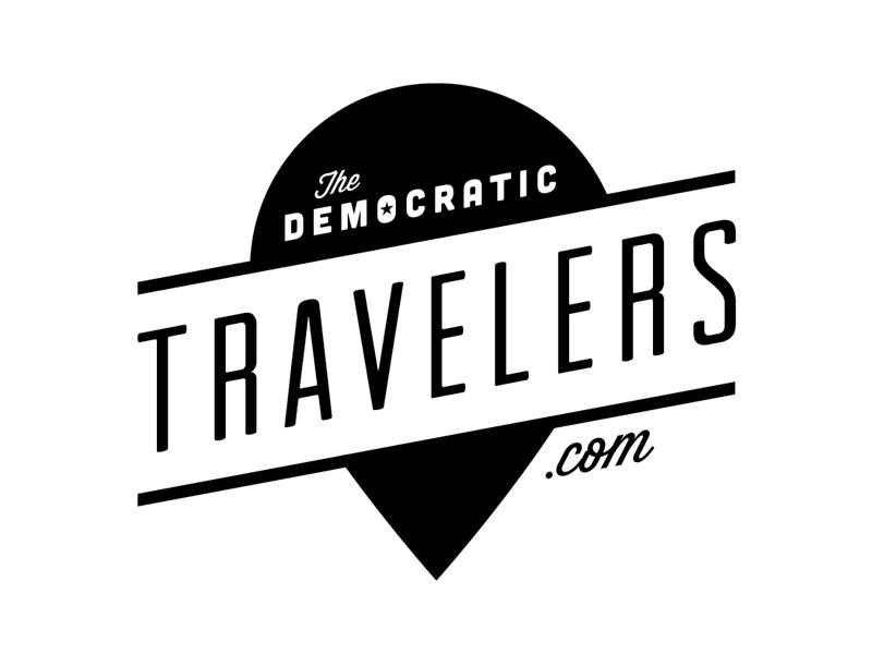 Democratic Travelers Logo logo travel map pin democratic