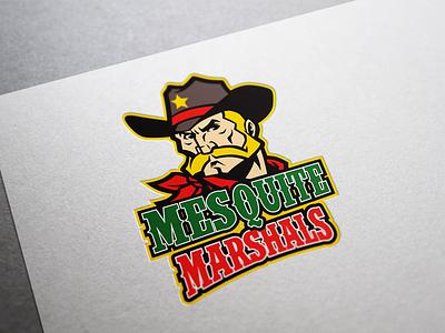 Mesquite Marshals wild wild west brand identity rugby football sheriff cowboy logo