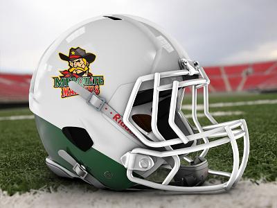 Mesquite Marshals Team Helmet wild wild west sheriff rugby football cowboy brand identity logo