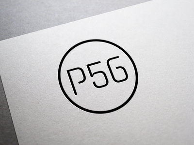 Project 56 logo brand identity co working space typography stroke outline branding logo