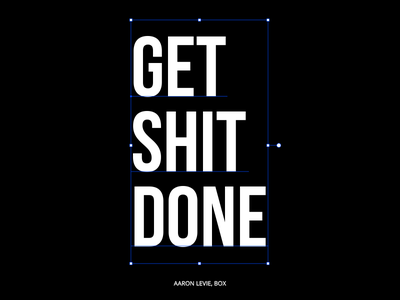 Get Shit DONE motivational quotes font typeface quotes vector typography