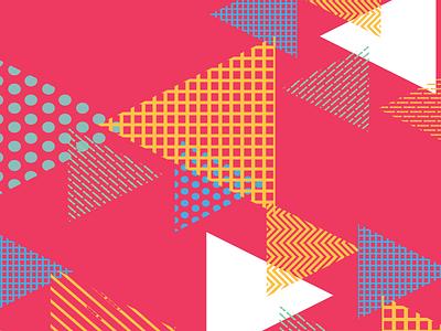 Kickstagram Pattern Design brand identity 80s vibe logo triangle pattern