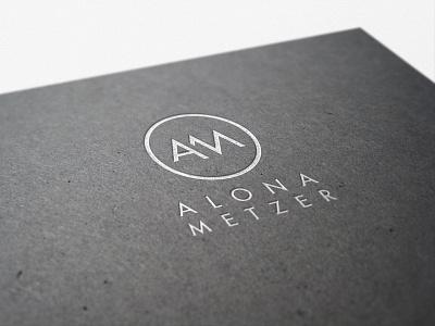 Alona Metzer Logo lettering flat type branding vector icon typography ui design logo illustration
