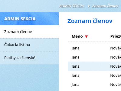 WIP: Medical society users list user list menu
