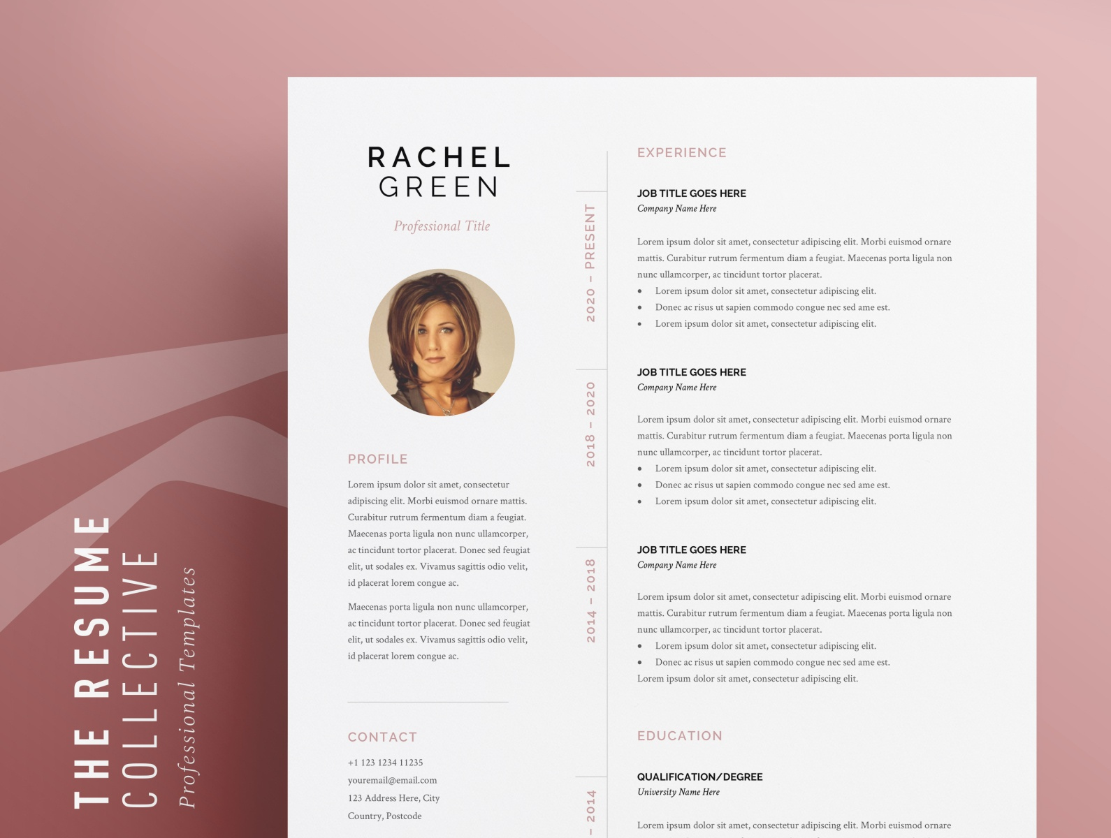 Cv Template Easily Editable Word Format Download By The