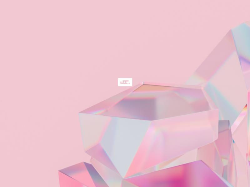 Fancy.3 cinema 4d fancy pink crystal glass design web logo fashion octane render 3d c4d