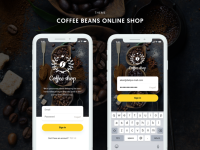 Daily Ui 001# - Login UI for Coffee beans online shop