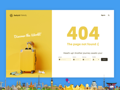 Daily UI #008 - 404 page