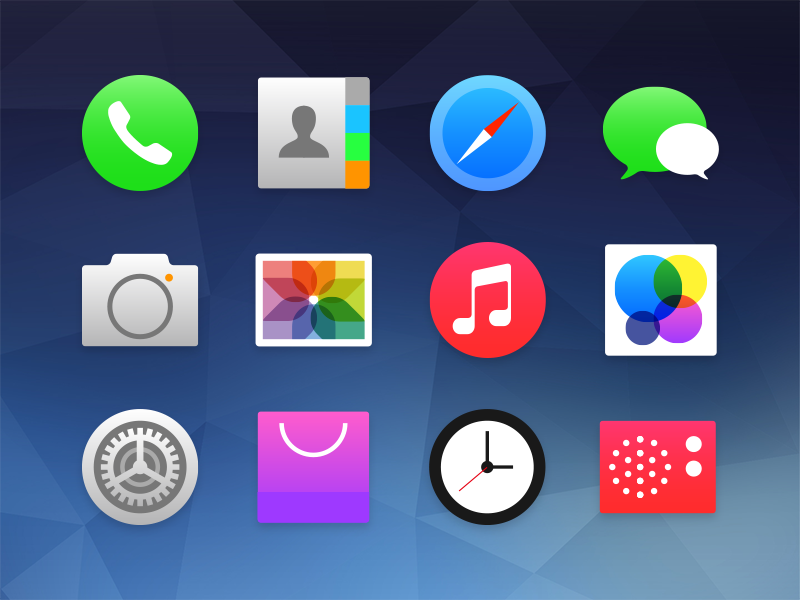 iOS7 + Flyme3.0 Redesign icon ios flyme