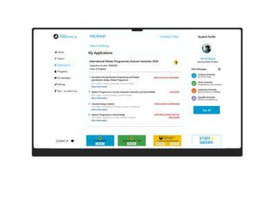 Universityadmissions.se Redesign web tech sweden design ui  ux design