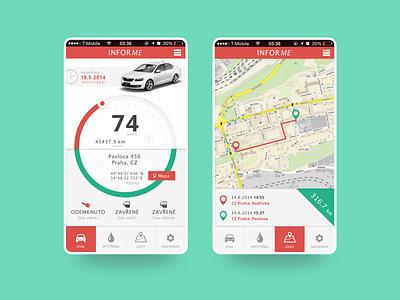InforMe - SKODA automobile ui car automotive mobile app design mobile ui mobile design mobile app mobile