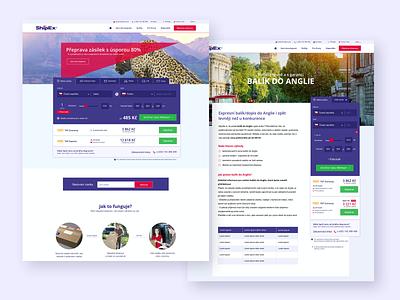 Shipex delivery ui design web design webdesign web brand website