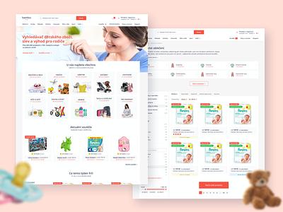 Bembo.cz portal shop baby ecommerce design ecommerce website design webdesign web design website web