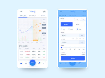 Sonata mobile application app design app ui exchange trading coins crypto currency cryptocurrency crypto mobile mobile app mobile app design mobile design mobile ui