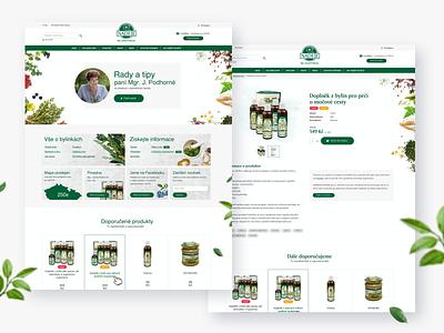 Nadeje design brand website design web design webdesign website web herbs eshop store ecommerce shop